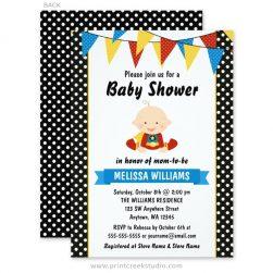 Superhero baby shower invitations.