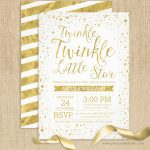 Twinkle twinkle little star baby shower invites