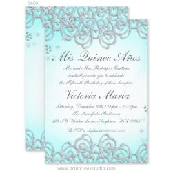 Winter wonderland Quinceanera invitations