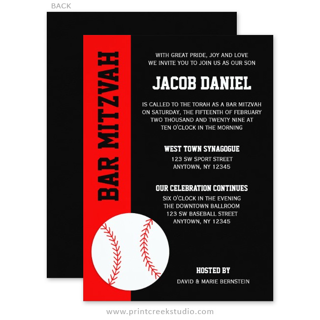 Unique Bar Mitzvah Invitations