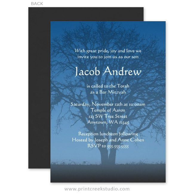 Unique Bar Mitzvah Invites