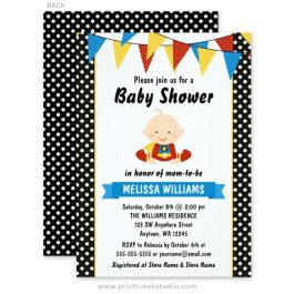 Superhero baby shower invitations.