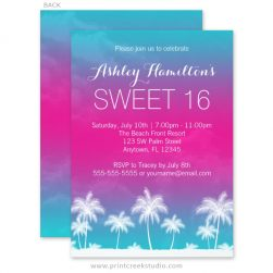 Luau Sweet 16 Invitations
