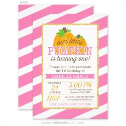 Our little pumpkin 1st birthday invitations