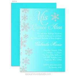 Winter wonderland quinceanera invitaitons