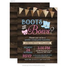 Country gender reveal invitations