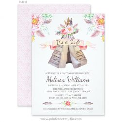 Boho Chic Baby Shower Invitations