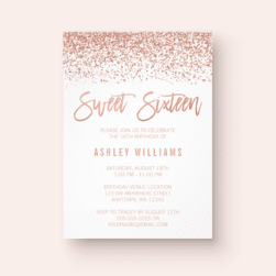 Sweet 16 Birthday Invitations