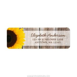 Sunflower return address labels