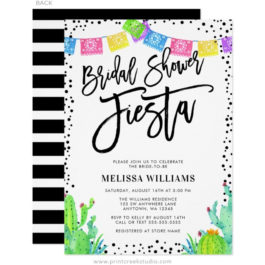 Fiesta Bridal Shower Invitations