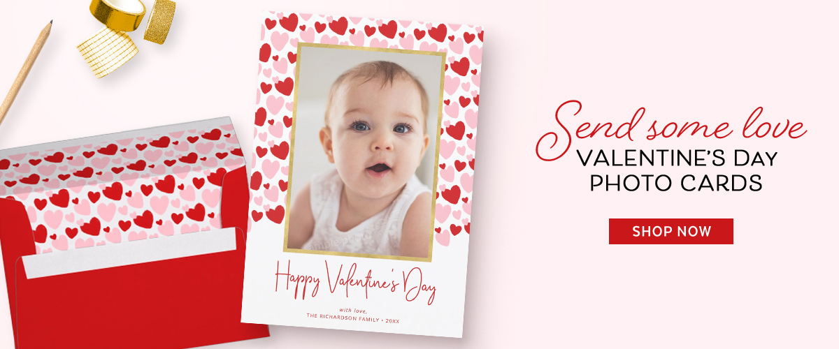 Cute Valentine's Day photo cards